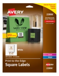 Avery Square Labels 22806 Packaging Image