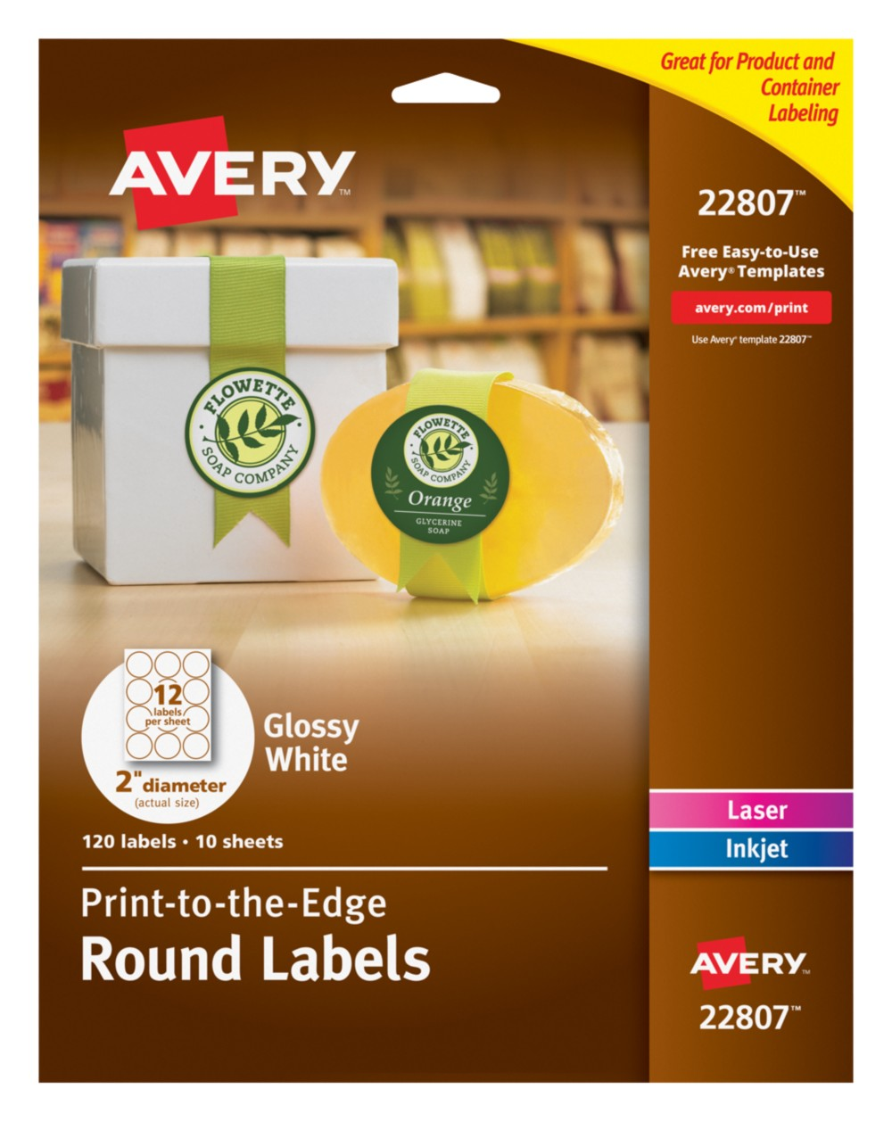 Avery Round Labels 22807