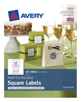 "Business Builder, TrueBlock, White Labels, 2""x2"", 12up 10 sheets 22816"
