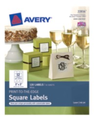 Avery ® Print-to-the-Edge Square Labels 22816, Packaging Image