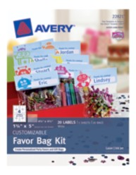 Avery® Customizable Favor Bag Kit 22821,Packaging Image