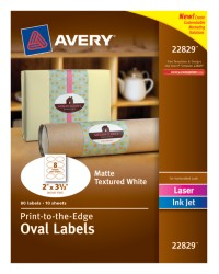 Large Oval Labels