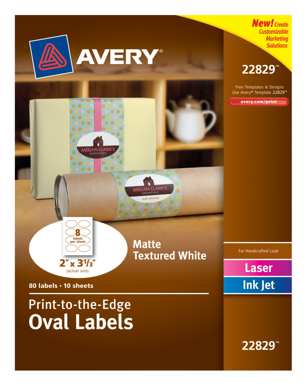 Oval Labels 22829