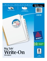 Avery Big Tab Write-On Dividers 23078 Packaging Image