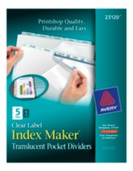 Avery® Index Maker® Clear Pocket Clear Label Dividers 23120, Packaging Image