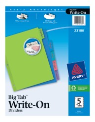 Avery® Big Tab™ Write-On Dividers 23180, Packaging Image