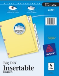 WorkSaver Big Tab Insertable Tab Dividers-Copper Reinforced