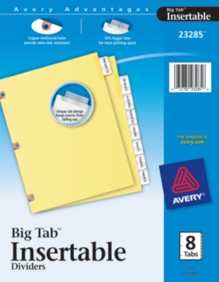 WorkSaver Big Tab Insertable Tab Dividers-Copper Reinforced 23285