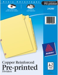 Copper Reinforced Preprinted Laminated Tab Dividers