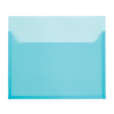 "MSHO 1 Self-Adhesive Poly Pocket, Blue, Large, Vertical, 12"" x 10-1/4"" 24502"