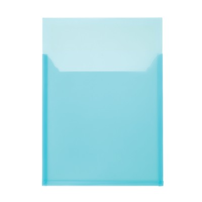 "MSHO 1 Self-Adhesive Poly Pocket, Blue, Large, Horizontal, 9-1/2"" x 13-1/4"" 24504"