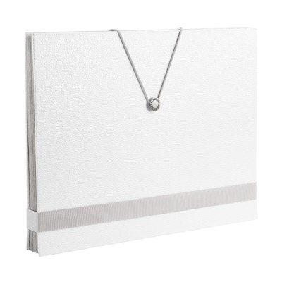 MSHO 1 Shagreen Accordion File, White, Large, 13 L x 10 H x 1.5 depth 24515