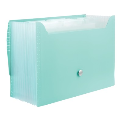 1 Plastic Accordion File, Blue, Large, 13 L x 9.5 H x 1.5 depth 24525