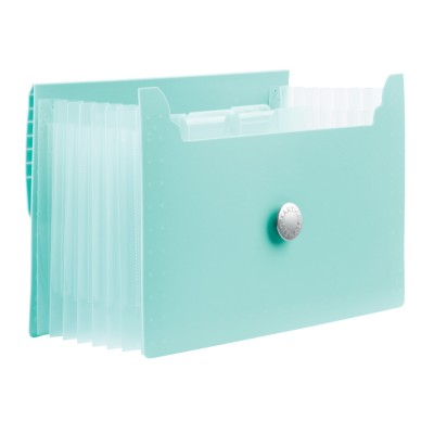 MSHO 1 Plastic Accordion File, Blue, Small, 7.25 L x 4.75 H x 1.0 depth 24526