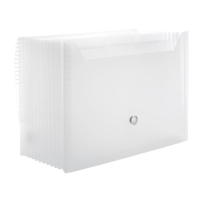 MSHO 1 Plastic Accordion File, White, Large, 13 L x 9.5 H x 1.5 depth 24527