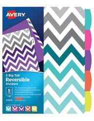 Avery Big Tab Reversible Fashion Dividers, Chevron 24975