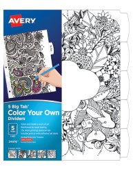 Avery Big Tab Reversible Fashion Dividers, Color Your Own Design