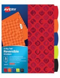 Avery Big Tab Reversible Fashion Dividers, Sports 24977