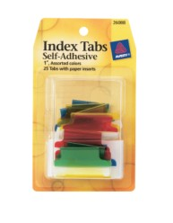 Index Tabs, Self Adhesive with Write-On Inserts