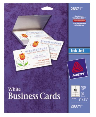 Ink Jet Business Cards 28371