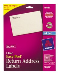 Avery Easy Peel Labels 28667 Packaging Image