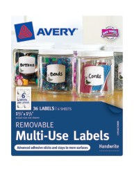 "Avery® Removable Multi-Use Labels 40150, 1-1/2"" x 1-1/2"", Packaging Image"