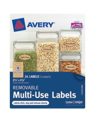 Avery® Removable Multi-Use Labels 40151, Kraft Brown, Packaging Image