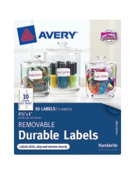 "Avery® Removable Durable Labels 40157, 1"" x 1-3/4, Packaging Image"