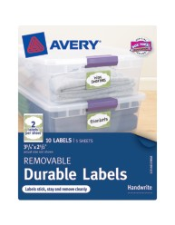"Avery® Removable Durable Labels 40159, 2-1/2"" x 3-3/4"", Packaging Image"