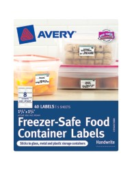 "Avery® Freezer-Safe Food Container Labels 40172, 1-1/4"" x 1-3/4"", Packaging Image"