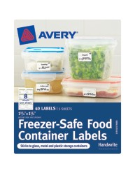 "Avery® Freezer-Safe Food Container Labels 40174, 1-1/4"" x 1-3/4"", Packaging Image"
