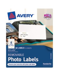 "Avery® Removable Photo Labels 40189, 1-1/4"" x 1-3/4"", Packaging Image"