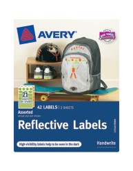 Avery® Reflective Labels 40199, Green and Orange, Assorted Shapes, Packaging Image