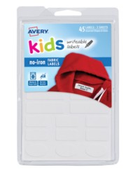 Avery® No-Iron Clothing Labels 40700, Packaging Image