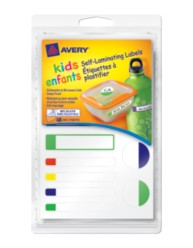 "Avery® Self-Laminating Labels for Kids"" Gear 41425, Packaging Image"
