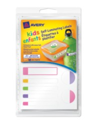 "Avery® Self-Laminating Labels for Kids"" Gear 41426, Packaging Image"