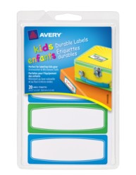 Avery® Durable Labels for Kids' Gear 41431, Packaging Image