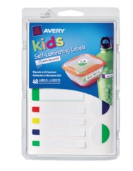 Avery® Self-Laminating Labels for Kids' Gear 41433, Packaging Image