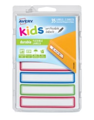 Avery® Durable Labels for Kids' Gear 41440, Packaging Image