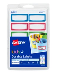 Avery® Durable Labels for Kids' Gear 41441, Packaging Image