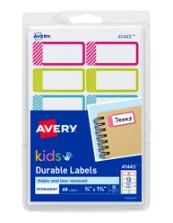 Avery Durable Kids Labels 41443