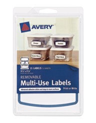 Avery® Removable Multi-Use Labels 41445,  Packaging Image