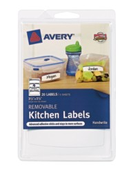 Avery® Removable Kitchen Labels 41454, Packaging Image