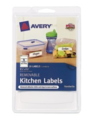 Avery® Removable Kitchen Labels 41455, Packaging Image