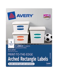 Avery® Print-to-the-Edge Arched Rectangle Labels 41456, Packaging Image