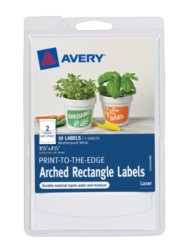 Avery® Print-to-the-Edge Arched Rectangle Labels 41457