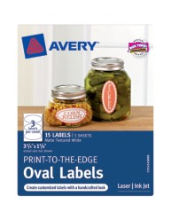 Avery® Print-to-the-Edge Oval Labels 41458, Packaging Image