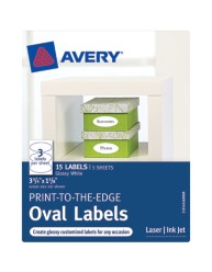Avery® Print-to-the-Edge Oval Labels 41460, Packaging Image
