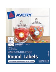 Avery® Print-to-the-Edge Round Labels 41461, Packaging Image