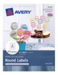 Avery® Print-to-the-Edge Round Labels 41462, Packaging Image